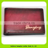 16874 Fashionable eco-friendly Italian leather card holder luxury driving license leather case wallet