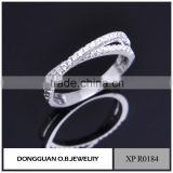 China wholesale OEM white gold ring designer rings/finger ring/silver ring design