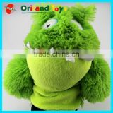 safe standard CE/EN71 passed educational toys plush animal shaped stuffed hand puppets for baby