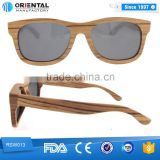 Fashionable Zebra wood with Spring hinge wooden sunglasses dropshipping
