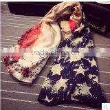 Europe and the new British style soldiers flag printed cotton soft scarf scarf shawl tassels