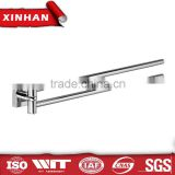 adjustable degree Bathroom accessory extension towel bar Swivel double towel rail bathroom