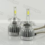 Universal Motorcycle Bike Car H4 Hi/Lo Beam 2LED Front Headlight HeadLamp Bulb 30w 6000k 3000k