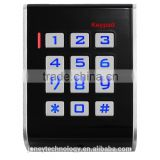 Black/White Single door access control keypad device with wiegand 26 interface and alarm time is adjustable