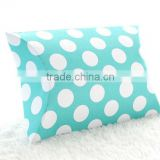 Robin Egg Blue Polka Dot Pillow Boxes Spots Dots Wedding Pillow Gift Boxes for Favours Xmas Party Box Baby Shower