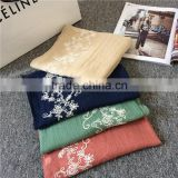 New design beautiful embroidery muslim scarf hijab abaya