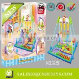 2014 Top Selling 3259 Hippopotamus World 2 in 1 Baby Musical Baby Gym Play Mat