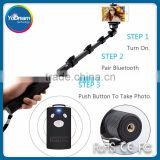 hot sales Bluetooth from the shaft portable in pocket flexible walking stick selfie stick with Bluetooth factory price