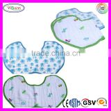 C559 Muslin Cotton Baby Burp Bibs Multi Layer Soft Light Absorbent Feeding Disposable Baby Bib
