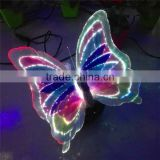 Color customized garden/backyard beautiful led lighted butterfly decorations