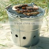 Stainless Steel Stoves Charcoal Grill Portable BBQ Barrel Outdoor Barbecue Bucket for beach and camping