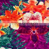spandex/nylon fabric for swimwear with floral printing