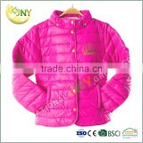 Retail Factory Infant Clothes Red Winter Cotton Padding Baby Coat For Girl Jacket