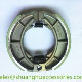 Motorcycle brake shoe for SUZUKI,weightness of 250g,brake lining with groove