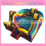 Sliding way inflataable bounce obstacle course toys