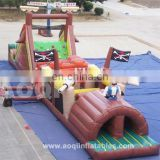 AOQI pirate style outdoor obstacle course equipment for sale