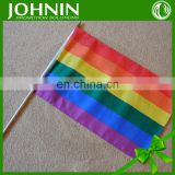 75D polyester printed colorful hand rainbow flag for advertising