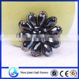 Sold to drill the ball glass slipper flowers brooch handmade beaded shoe accessories high-end foreign trade shoes