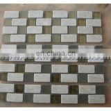 Mix travertine&glass mosaic