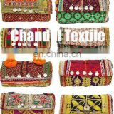 Indian Vintage Tribal Handmade Banjara Embroidered Work Clutch & Shoulder Bag, Indian Bohemian clutch, Tribal indian purse. Bag