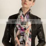 210S/2*60S/1 herringbone silk wool scarf fabric