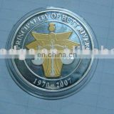 2015 Manufactory production nickel metal collection coin, China factory custom make challenge coin packed with plastic box