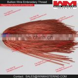 French Metallic Gimp Copper Bullion Wire For Embroidery Work