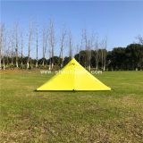 Ultralight Snow Pyramid Tent Bushcrafter Yellow Double Layer Rodless Outdoor Tents, 2 Man Tents