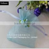Hot sale ! apple green wedding gift organza bags with cute flowers , can be mix color order