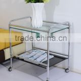 wholesale movable chrome glass end table of restaurant                                                                         Quality Choice