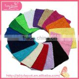 Solid color girls crochet tutu tops girls tube tops with different colors