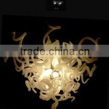 White fresh glass chanderlier LED Pendant lobby Lighting fixture                                                                         Quality Choice