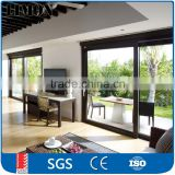 Customized large Powder Coated Frame Aluminum Sliding Glass Doors with Fixed Door Passed AS2047