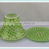 2014 new China manufacturing new crackle mosaic lamp candle shade for home decoration&wedding