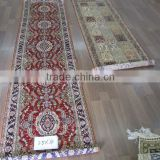 Handmade carpet hand knotted red carpet runner