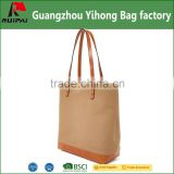 16 oz canvas tote bag leather handle