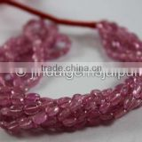 Wholesale Good Quality Pink Sapphire Smooth Oval Beads