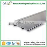 Waterproof extruded enclosures silver brushed aluminum skirting board