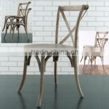 RCH-5001 French style stacking oak cross back chair                                                                         Quality Choice