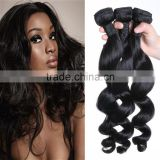 WJ005 Human hair weave beauty 7a grade virgin unprocessed natural brazilian body wave hair natural color                                                                                                         Supplier's Choice