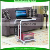 Portable laptop desk coffee table food holder living room c style desk stand