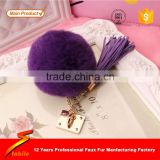 STABILE Korean Beanie Hat/raccoon fur pompoms/rabbit fur key chain