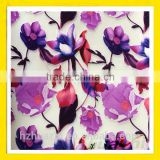 flower print burn-out fabric for girll dress