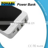 Alibaba Popular selling Power Bank with different capacity for choose 3 USB Port to charge together