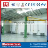 High Efficiency 2Ton Portable Jib Raising Crane With Derricking Jibs