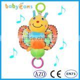 Babyfans Lovely Colorful Butterfly Cartoon Shaped Music Activity Educational Toys for kids china factory wholesale