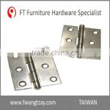 Taiwan Factory 76 x 63.5 x 1.8 mm Excellent Quality Heavy Duty Stainless Steel	180 Degree Hinge