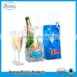 Best selling color clear PVC Plastic wine bottle bag for promotion