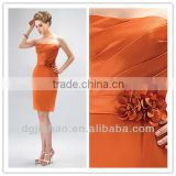 New Arrival Strapless Flower Trimmed Bridesmaid Dress                                                                         Quality Choice