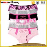Stylish 5pcs set cute lace sexy hipster girl underwear panty models